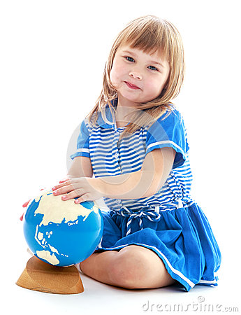 Free Very Passionate Little Girl Stock Images - 45835654