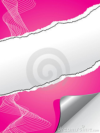Very realistic tear Pink paper