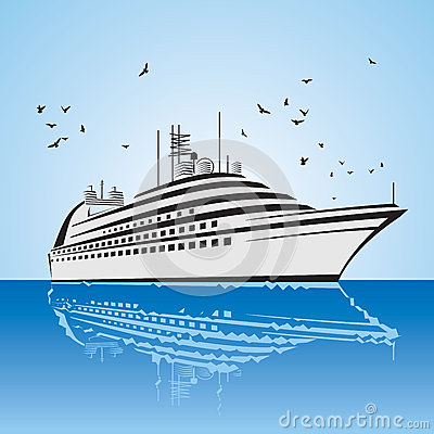 A very realistic view of Cruise Ship, similar to t