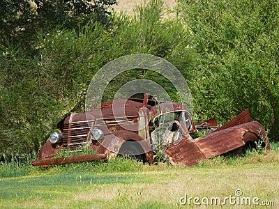 Very rusty car.