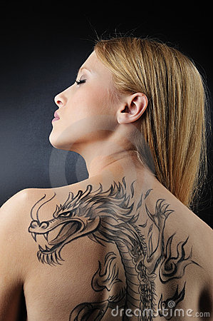 Very sexy dragon tatoo girl