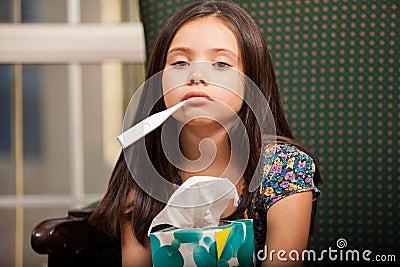 Very sick little girl