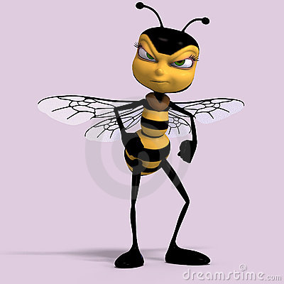 Very sweet render of a honey bee in yellow and