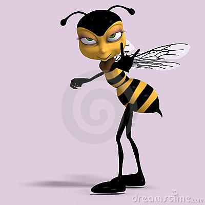 Very sweet render of a honey bee in yellow and bla