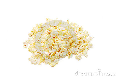 Very tasty popcorn isolated over white