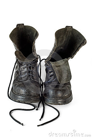 Very used boots