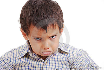 Very very angry kid great expression