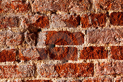 Very very old brick wall, closeup, natural light