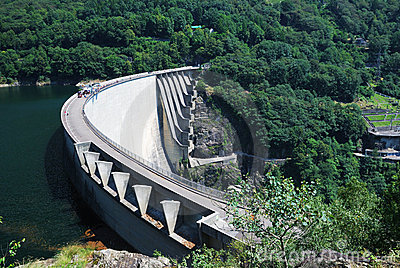 Verzasca dam near Locarno, Switzerland.
