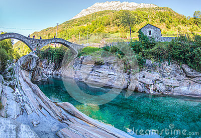 Verzasca River Valley, Switzerland II Editorial Photography