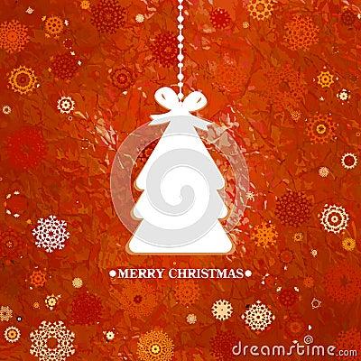 Verzierter blauer Weihnachtsbaum. ENV 8