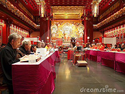 Vesak Day Chanting Editorial Stock Image