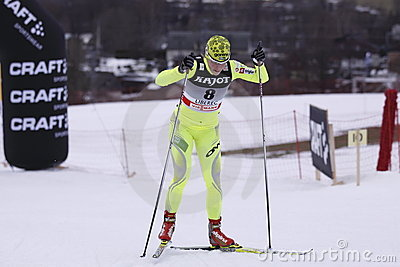 Vesna Fabjan - slovenian cross country skier Editorial Stock Image