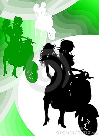 Vespa Girl Silhouette