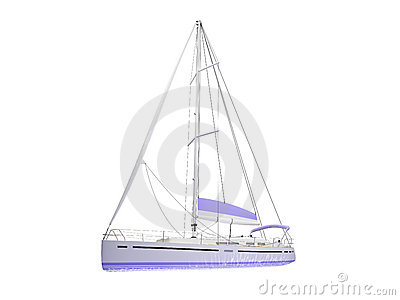 Vessel boat isolated front