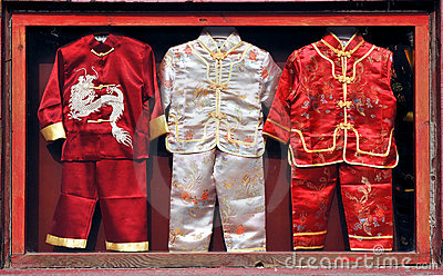 Vestiti dei bambini cinesi fotografia stock immagine for Oggetti tradizionali cinesi