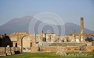 Vesuvius and ruins