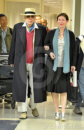 Veteran actor Peter O Toole at LAX airport Editorial Image