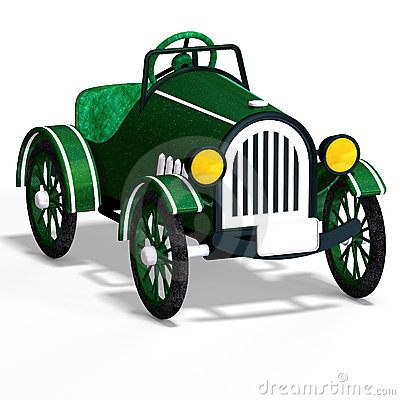 Veteran oldtimer With Clipping Path over white