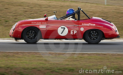 Veteran Porsche 356 racing car at speed Editorial Photography