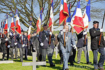 Veteran Soldiers in a WW1 war Cemetery Editorial Photography