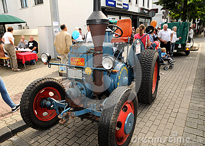 Veteran tractor Lanz Bulldog Editorial Stock Image