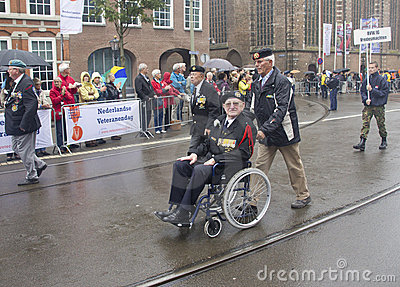 Veteran in Wheelchair Editorial Photo