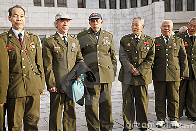Veterano da Guerra da Coreia de China Fotografia Editorial