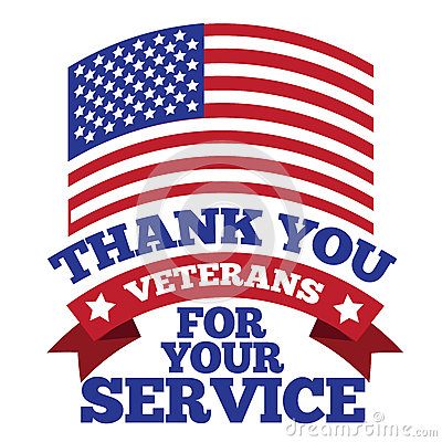 Free Veterans Day Thank You Design Royalty Free Stock Photo - 61315215