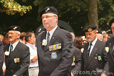 Veterans Marching Editorial Stock Image