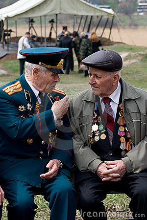 Veterans of World War II Editorial Photography
