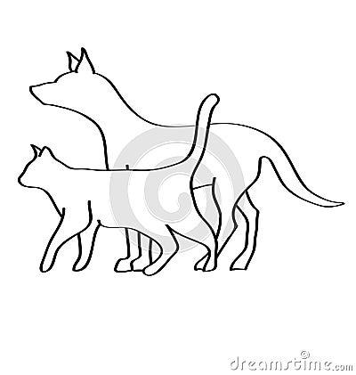 Veterinary dog and cat logo logo