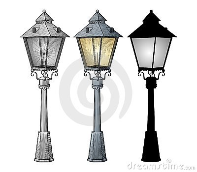 Vetor da lâmpada de rua