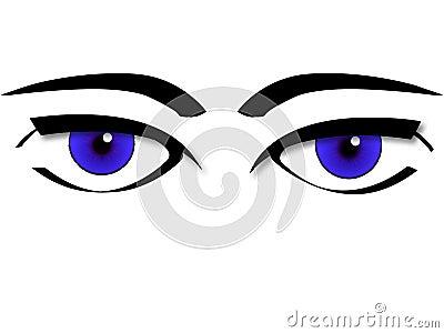Vetor dos olhos