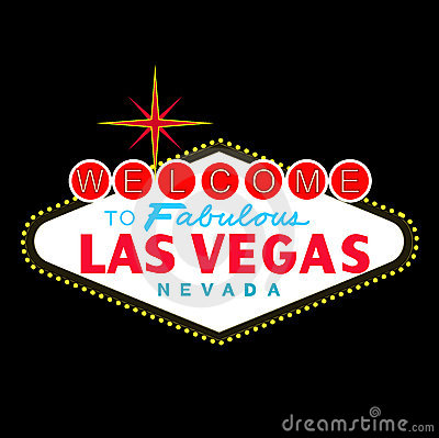 VETOR: Sinal de Las Vegas na noite (formato do EPS disponível)