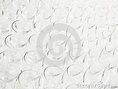 Vetri di vino vuoti