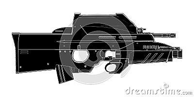Vettore 01 dell arma automatica