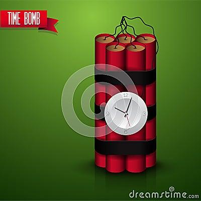Vettore cronometrato della bomba