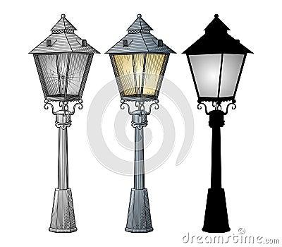 Vettore della lampada di via