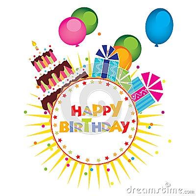 Vettore della torta di compleanno regali immagini stock - Colorazione pagina della torta di compleanno ...