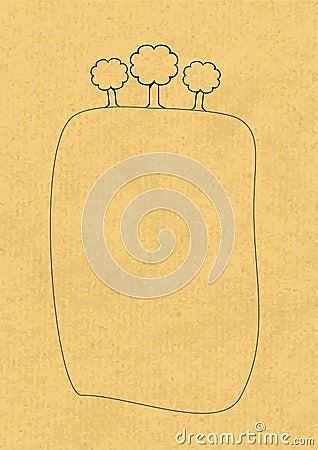 Vettore di carta di Eco