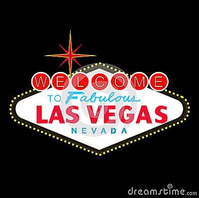 VETTORE: Segno di Las Vegas alla notte (formato di ENV disponibile)