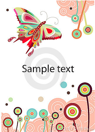 VeVector abstract butterfly and flowers