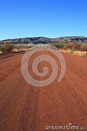 Väg för smuts outback