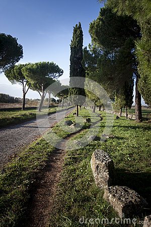 Free Via Appia Antica, Old Road Build By Ancient Romans Stock Photos - 46561043