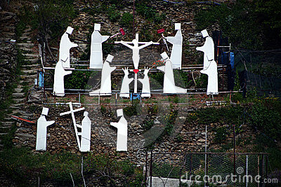 Via Crucis in Manarola, Italy Editorial Image