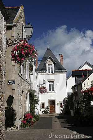 Via del villaggio del Brittany