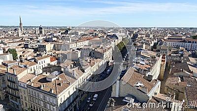 Via di pasteur di Cours in Bordeaux video d archivio