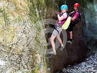 Via Ferrata / Klettersteig climbing