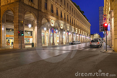 Via Roma, Turin, Italy Editorial Photography